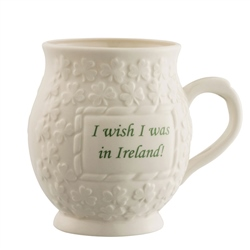 Belleek Classic I Wish I Was in Ireland Mug