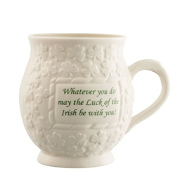 Belleek Classic May the luck of the Irish Mug