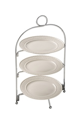 Belleek Classic Galway Weave Three Tier Server Stand *Belleek.com Exclusive*