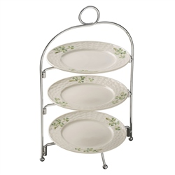 Belleek Classic Shamrock Three Tier Cake Stand