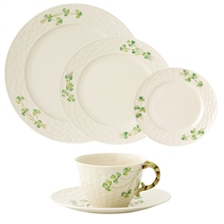 Belleek Classic Shamrock 5 Piece Dining Set