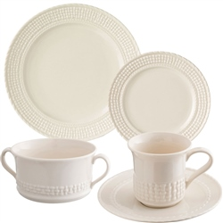 Belleek Classic Galway Weave 5 Piece Dining Set