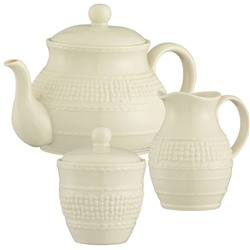 Belleek Classic Galway Weave Teaset *Belleek.com - Exclusive*