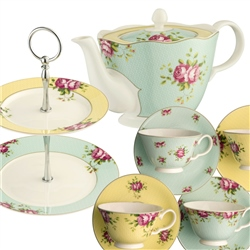 Aynsley Archive Rose Afternoon Teaset3 - *Belleek.com - Exclusive*