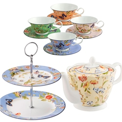 Aynsley Cottage Garden Afternoon Tea and Cake Bundle (2) - *Belleek.com - Exclusive*