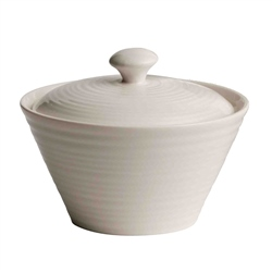 Belleek Living Ripple Sugar Pot