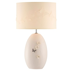 Belleek Living Colour Collection - Graphite Lamp and Shade *Belleek.com - Exclusive*