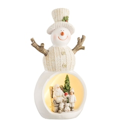 Aynsley Christmas Scene Snowman LED