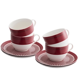 Aynsley Fortuna 4 Cups & Saucers Set