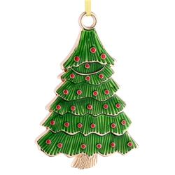 Belleek Living Barnardo's Christmas Tree Enamel Ornament