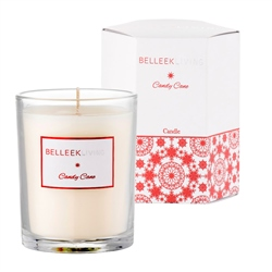 Belleek Living Candy Cane Candle