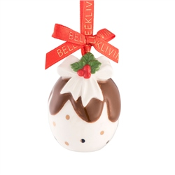 Belleek Living Christmas Pudding Mini Ornament