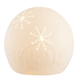 Belleek Living Nativity Globe LED