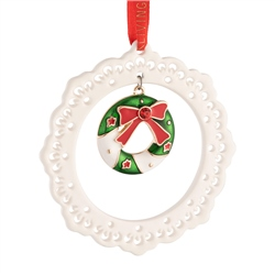 Belleek Living Pierced Wreath Ornament