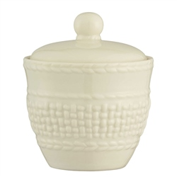 Belleek Classic Galway Weave Sugar Bowl