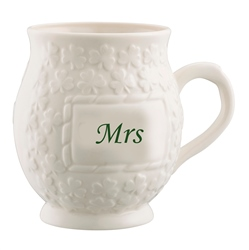 Belleek Classic Mrs Shamrock Mug