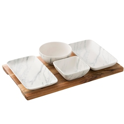 Belleek Living Marbled Tapas Set