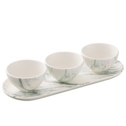 Belleek Living Marbled Three Bowl Serving Set