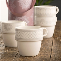 Aynsley Charbagh Set of Four Stacking Mugs