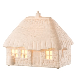 Belleek Studio Collection Thatched Cottage Luminaire