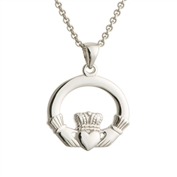 Galway Crystal Jewellery Claddagh Sterling Silver Pendant