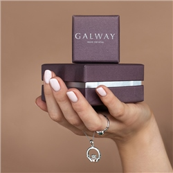 Galway Crystal Jewellery Trinity Knots & Shamrocks Rose Gold & Sterling Silver Ring