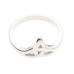 Galway Crystal Jewellery Trinity Knot Sterling Silver Ring