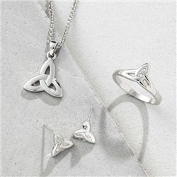 Galway Crystal Jewellery Trinity Knot Sterling Silver Earrings