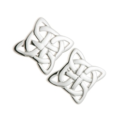 Galway Crystal Jewellery Celtic Knot Sterling Silver Earrings