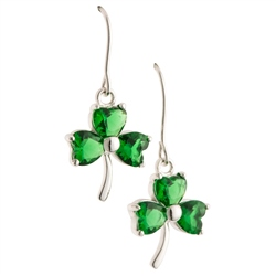 Galway Crystal Jewellery Shamrock Green Crystal Pendant Earrings