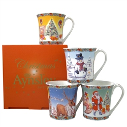 Aynsley Classic Christmas Mugs