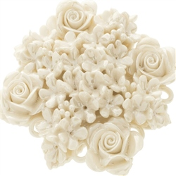 Belleek Classic Jewellery Rose Bouquet Brooch (Mother of Pearl)