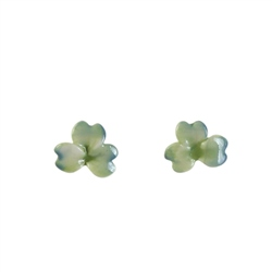 Belleek Classic Jewellery Shamrock Earrings (Green & Blue Wash)