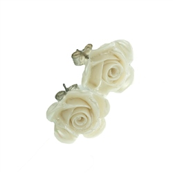 Belleek Classic Jewellery Rose Earrings (Mother of Pearl)