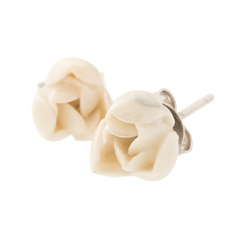 Belleek Classic Jewellery Rosebud Earrings (Mother of Pearl)