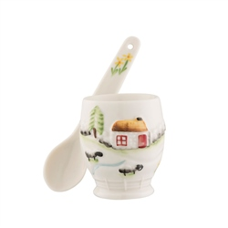 Belleek Classic Connemara Egg Cup & Spoon