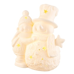 Belleek Living Pair of Snowmen LED