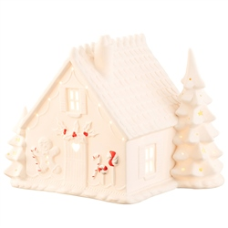 Belleek Living Gingerbread House Luminaire