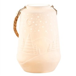 Belleek Living Winter Scene Luminaire