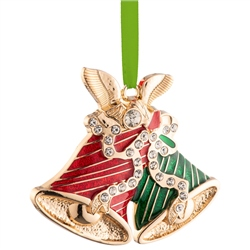 Belleek Living Barnardo's Christmas Bells Enamel Ornament