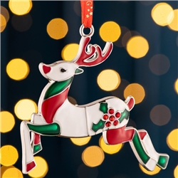 Belleek Living Reindeer Enamel Ornament