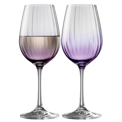 Galway Living Erne Wine Set of 2 in Amethyst