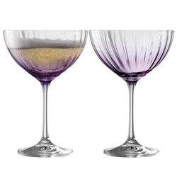 Galway Living Erne Cocktail/Champagne Saucer Set of 2 in Amethyst