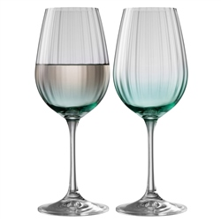 Galway Living Erne Wine Set of 2 in Aqua