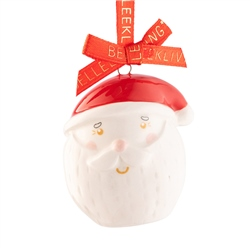 Belleek Living Jolly Santa Mini Ornament
