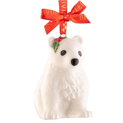 Belleek Living Polar Bear Cub  Mini Ornament
