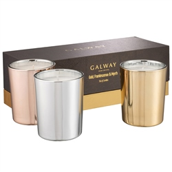 Galway Living Gold, Frankincense & Myrrh Candle Trio