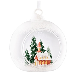 Galway Living  Church Scene Hanging Bauble