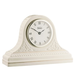 Belleek Classic Personalised Celtic Mantel Clock