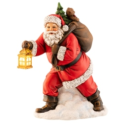 Aynsley Santa with Lantern Figurine LED
